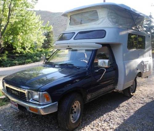 1989 Toyota Truck 2wd w/ 1970 Chinook Camper For Sale in Pocatello, ID